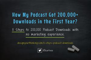 How My Podcast Got 200,000+ Downloads In the First Year?