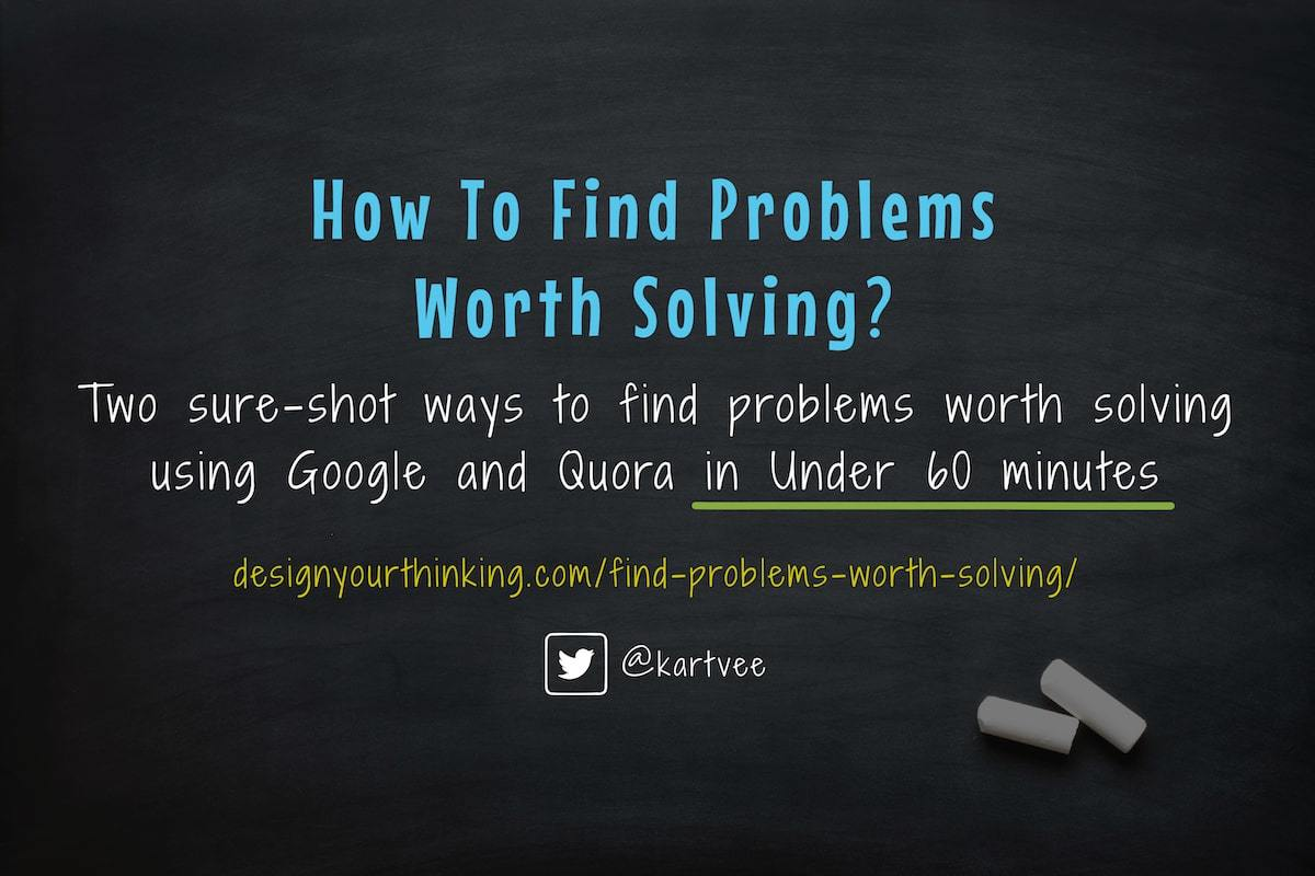 find problems worth solving