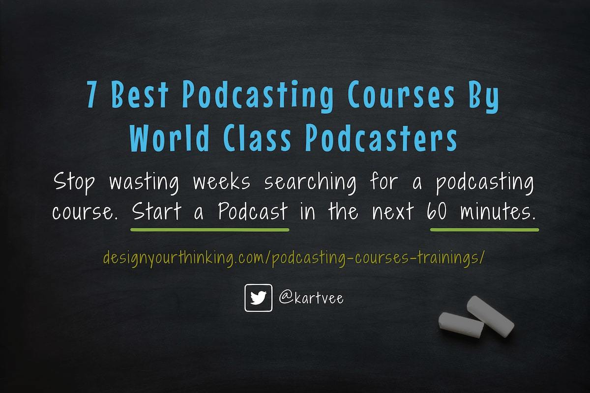 podcasting courses, masterclasses and trainings